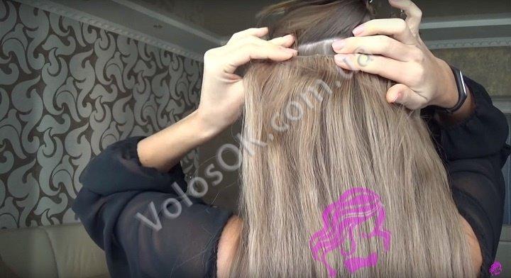 Плетем косу с накладными волосами. Фото 3
