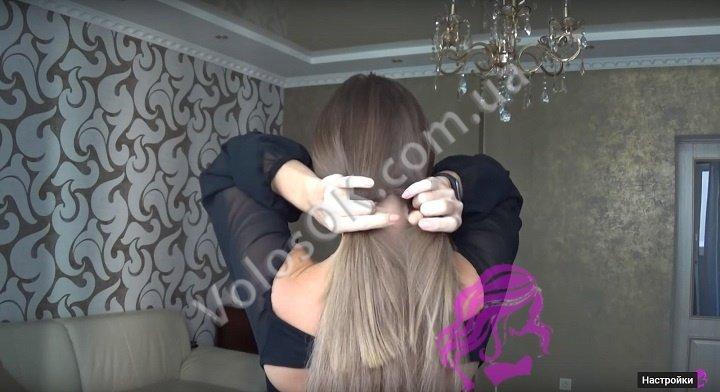 Плетем косу с накладными волосами. Фото 5