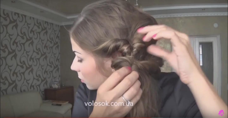 Прически с накладными волосами. Греческая прическа 8